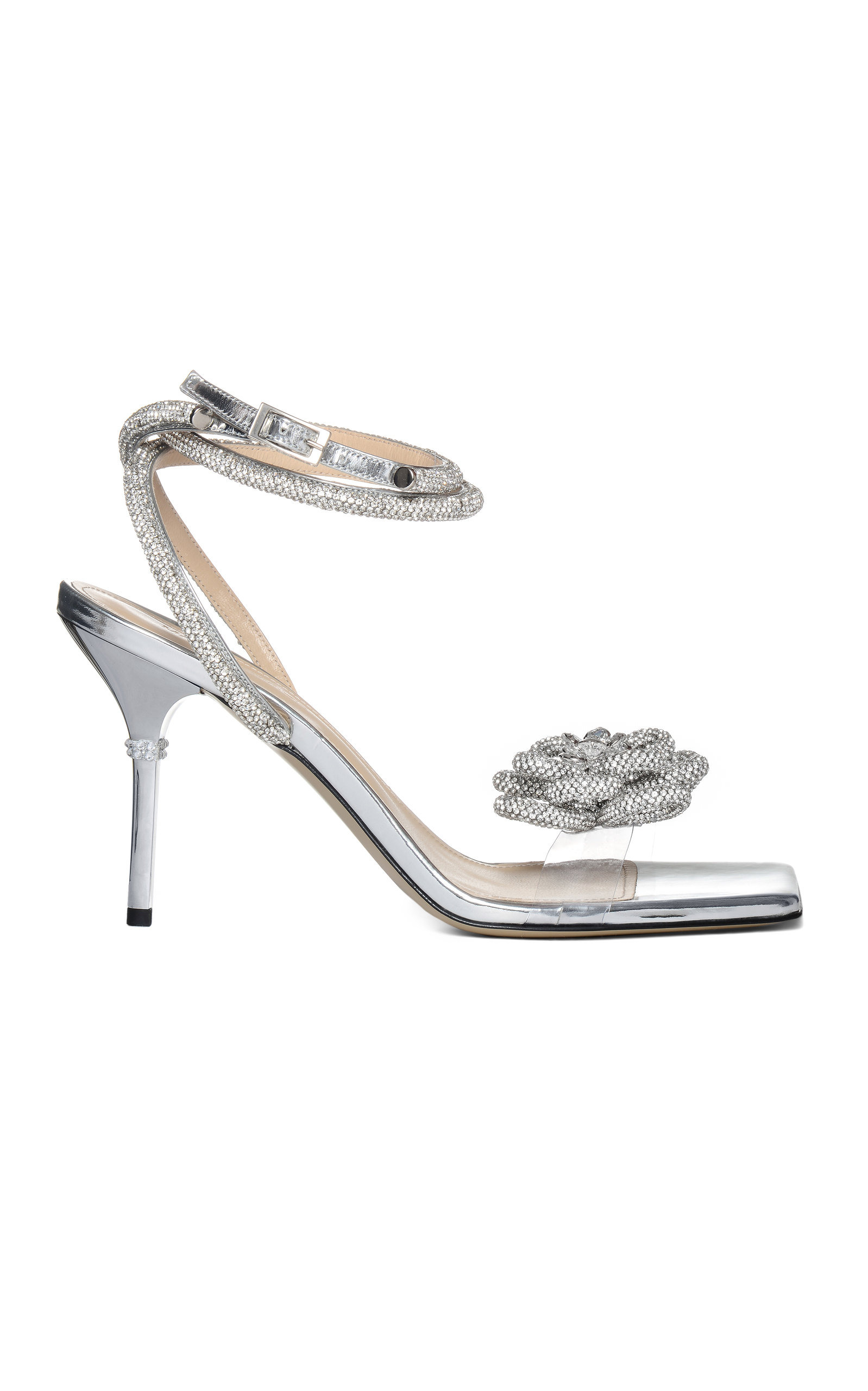 Women's Crystal Square Toe Sandals