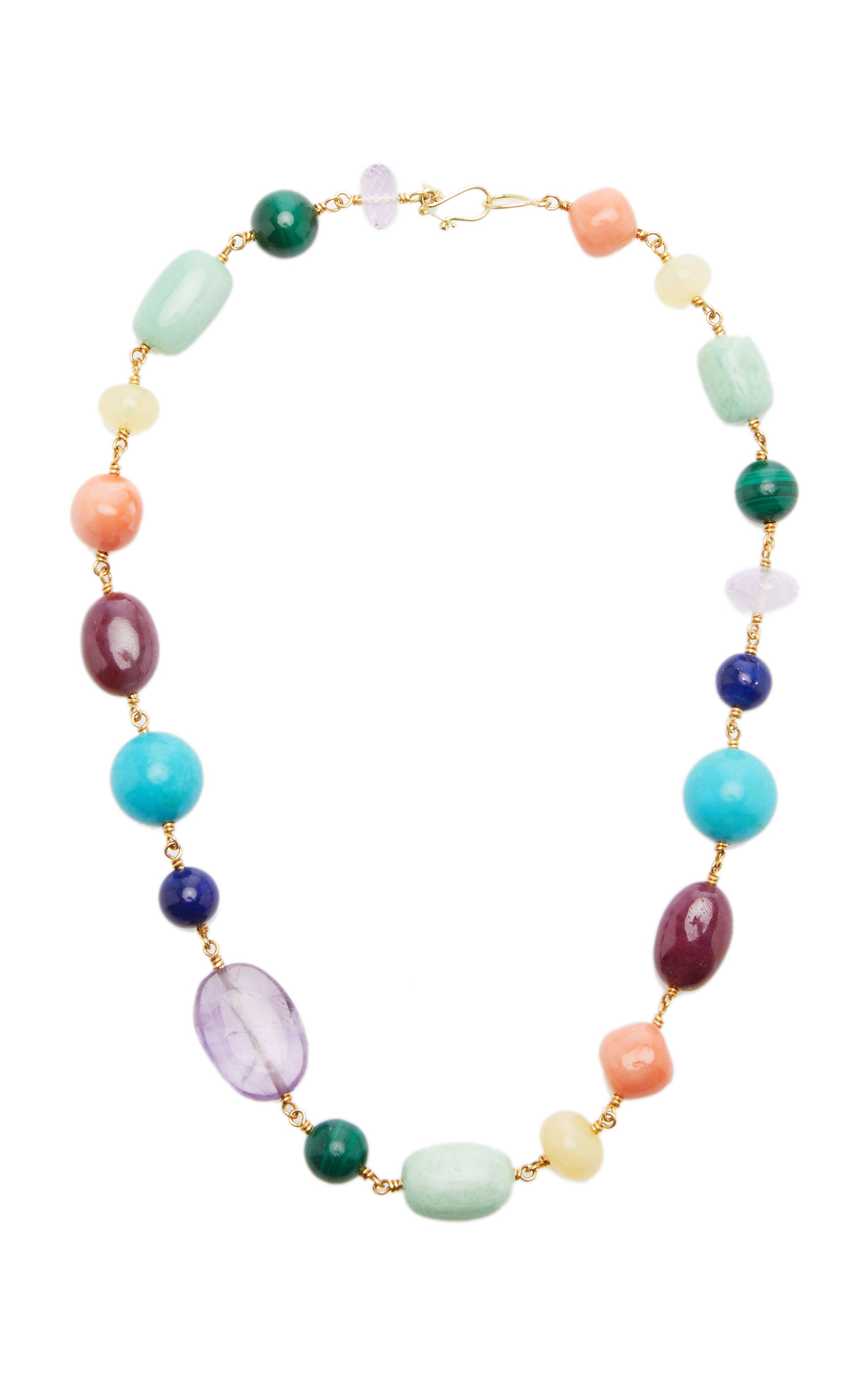 Women's Spun Sugar 22k Yellow Gold Multi-Stone Necklace