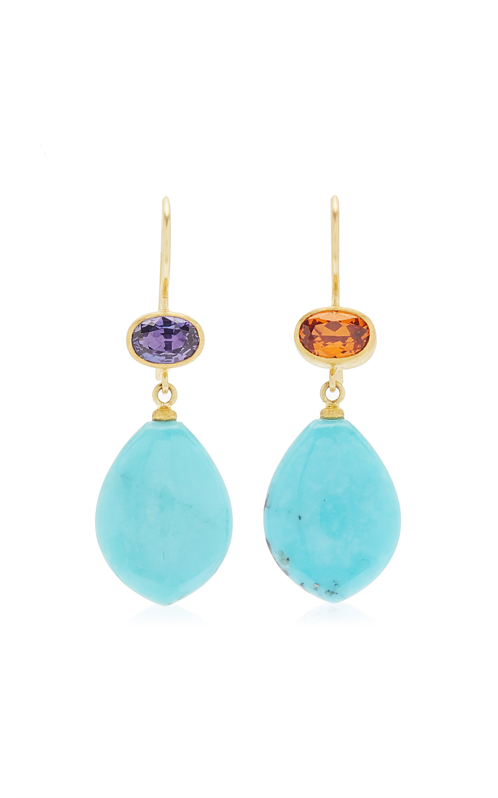 Women's Apple and Eve 22K Yellow Gold Multi-Stone Earrings