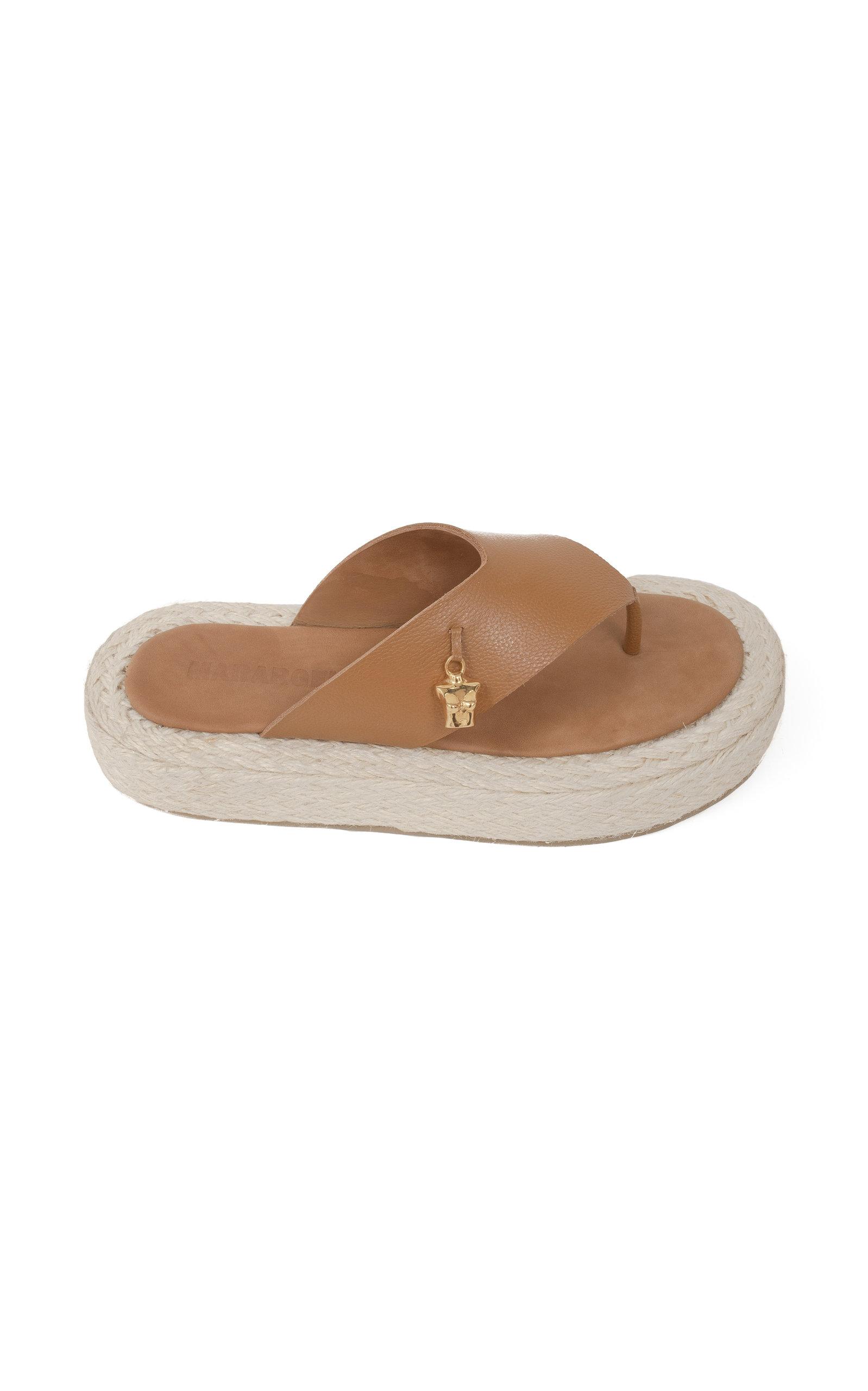 Women's Moda Exclusive: Raffia and Leather Sandals