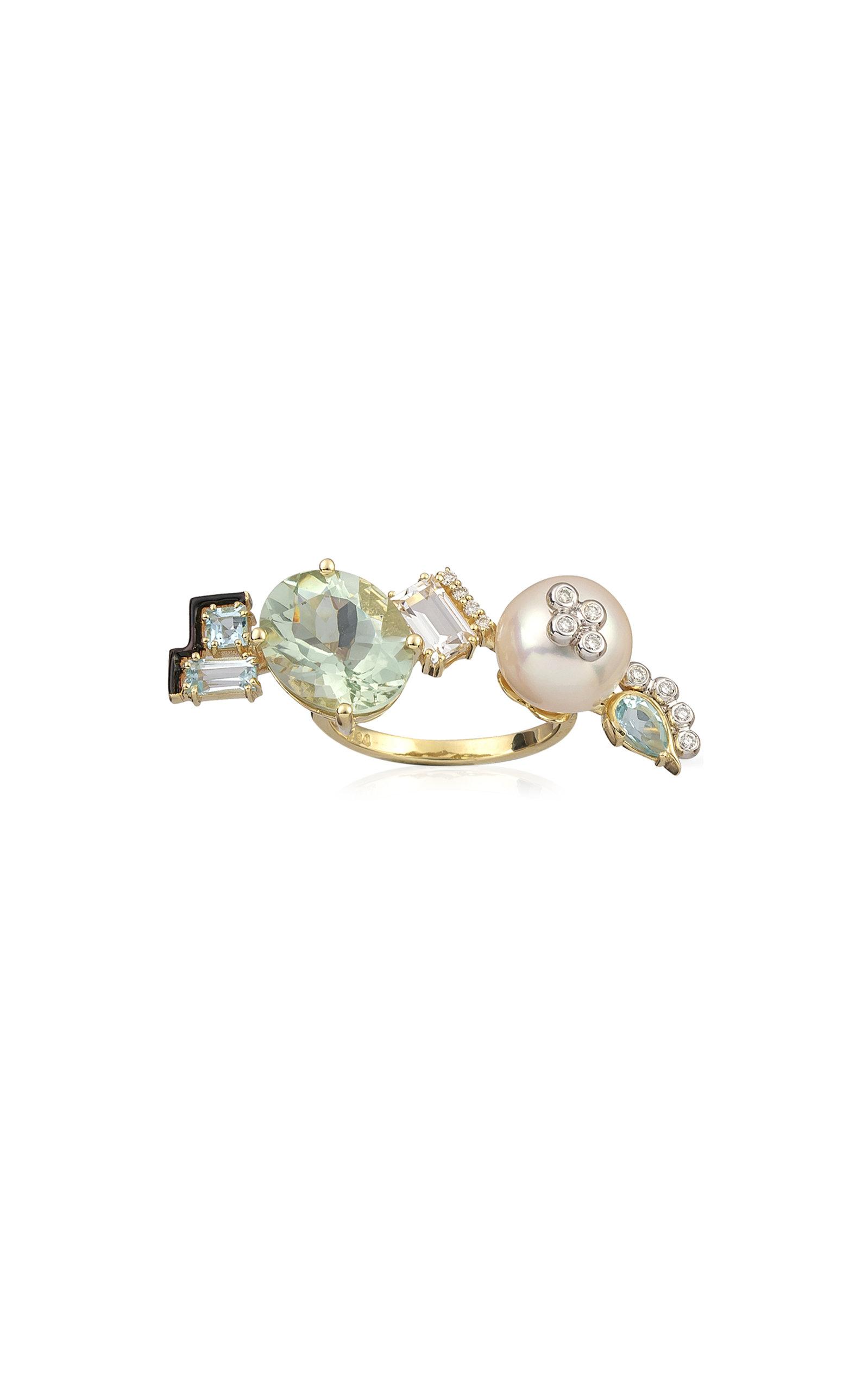 Women's Mediterranean Garden Treasure 14K Yellow Gold Multi-Stone Ring