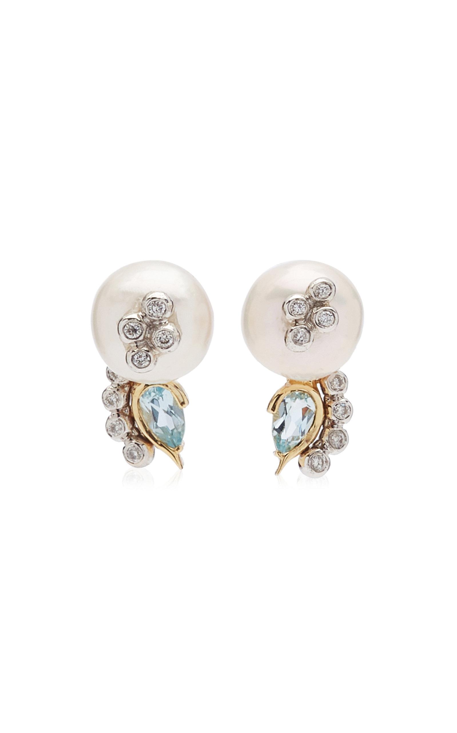 Women's Mediterranean Garden 14K Yellow Gold Multi-Stone Earrings