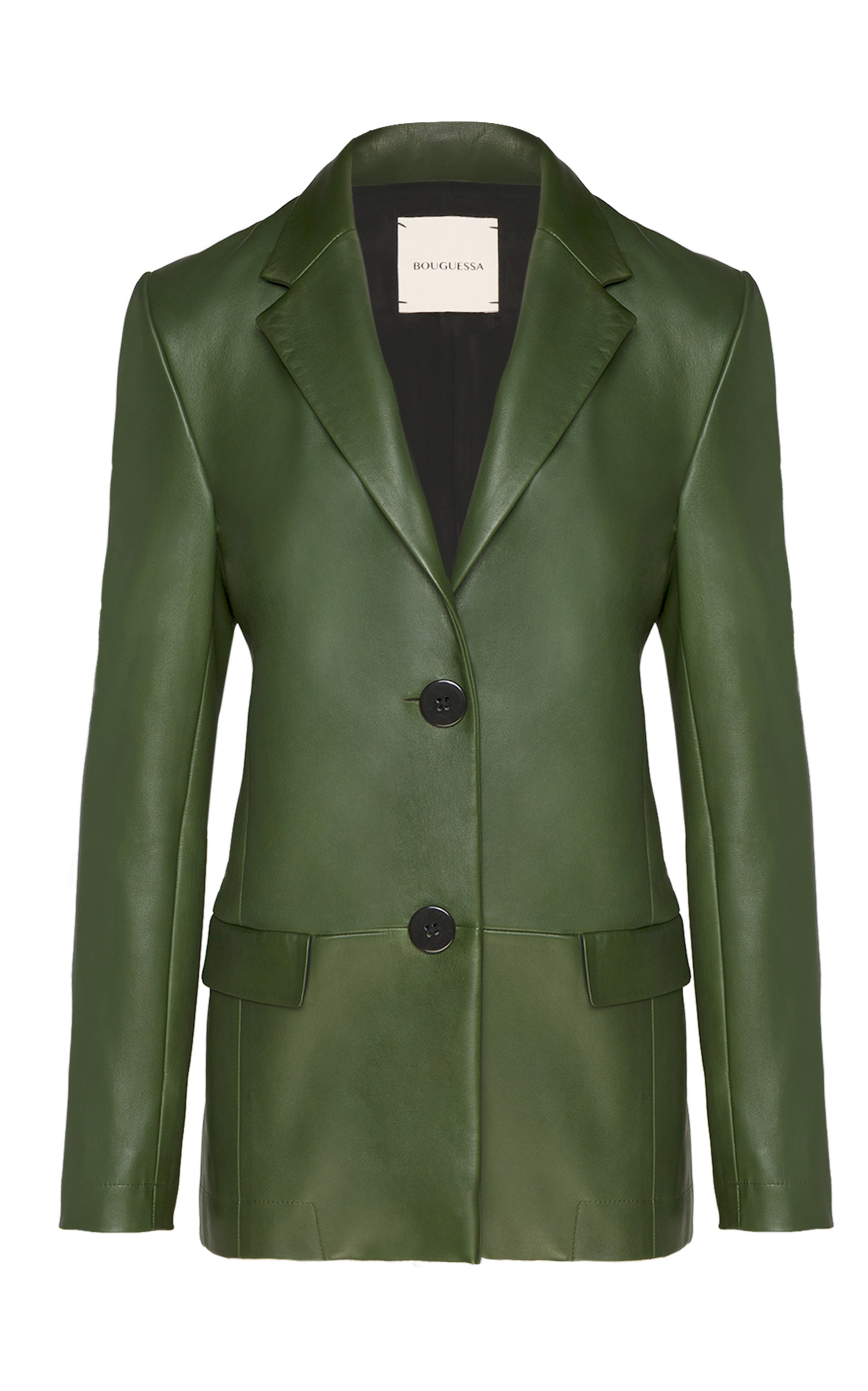 Women's Amina Fitted Leather Blazer