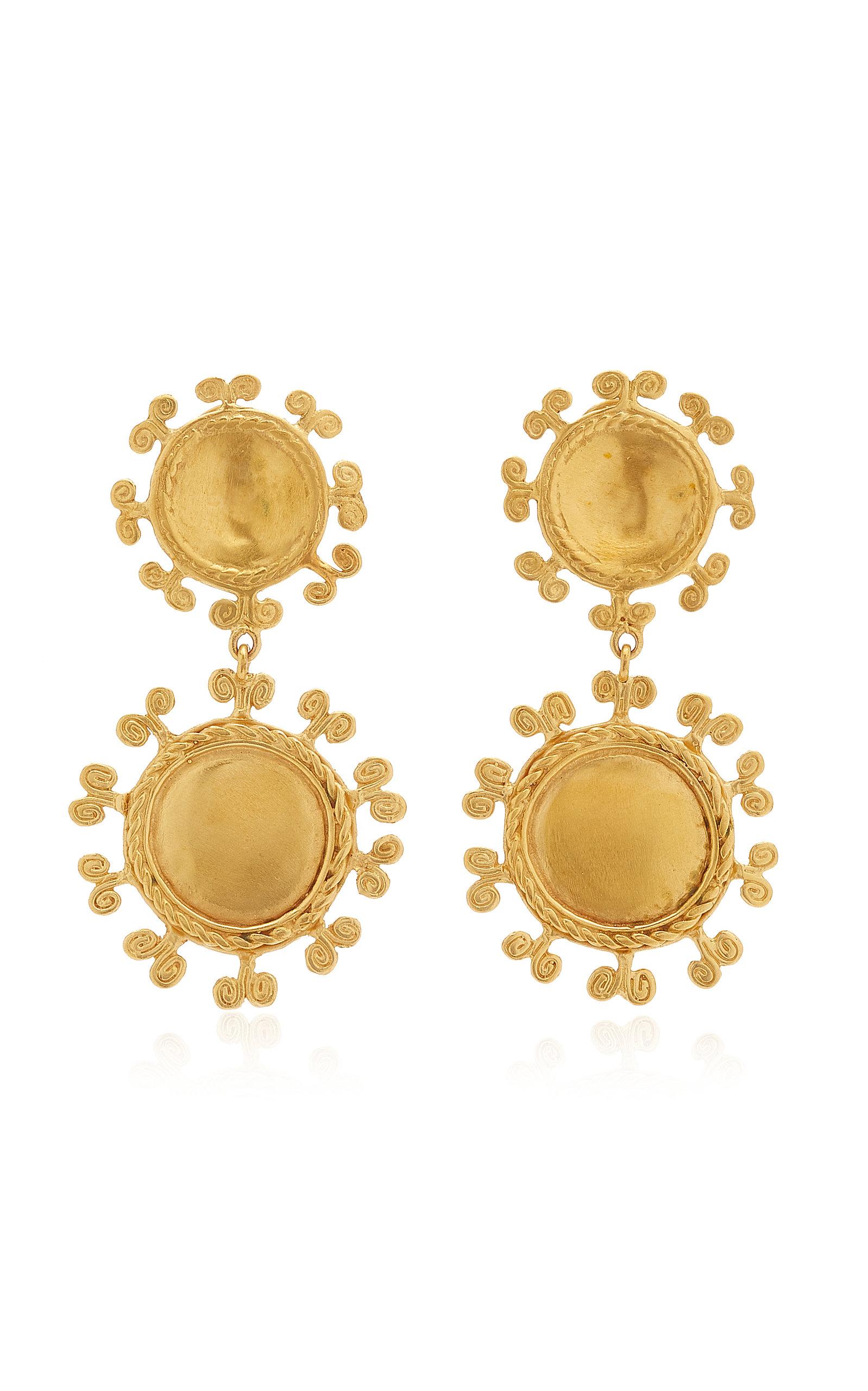 Women's Sue Doble 24K Gold-Plated Earrings