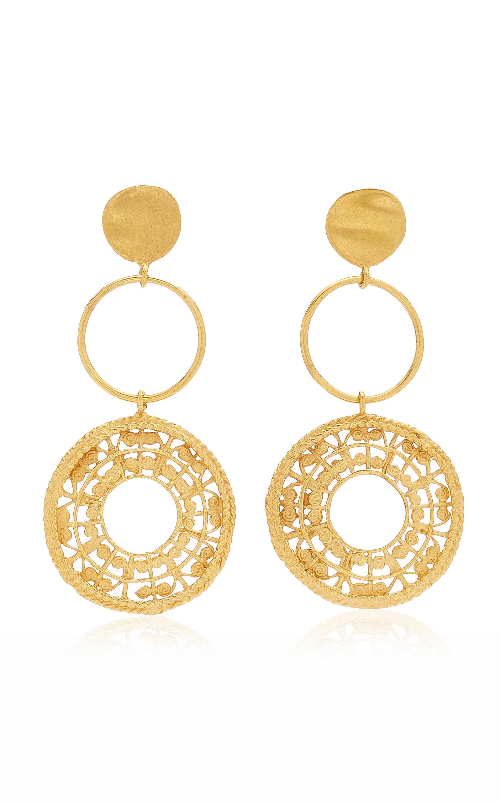 Women's Sonso 24K Gold-Plated Earrings
