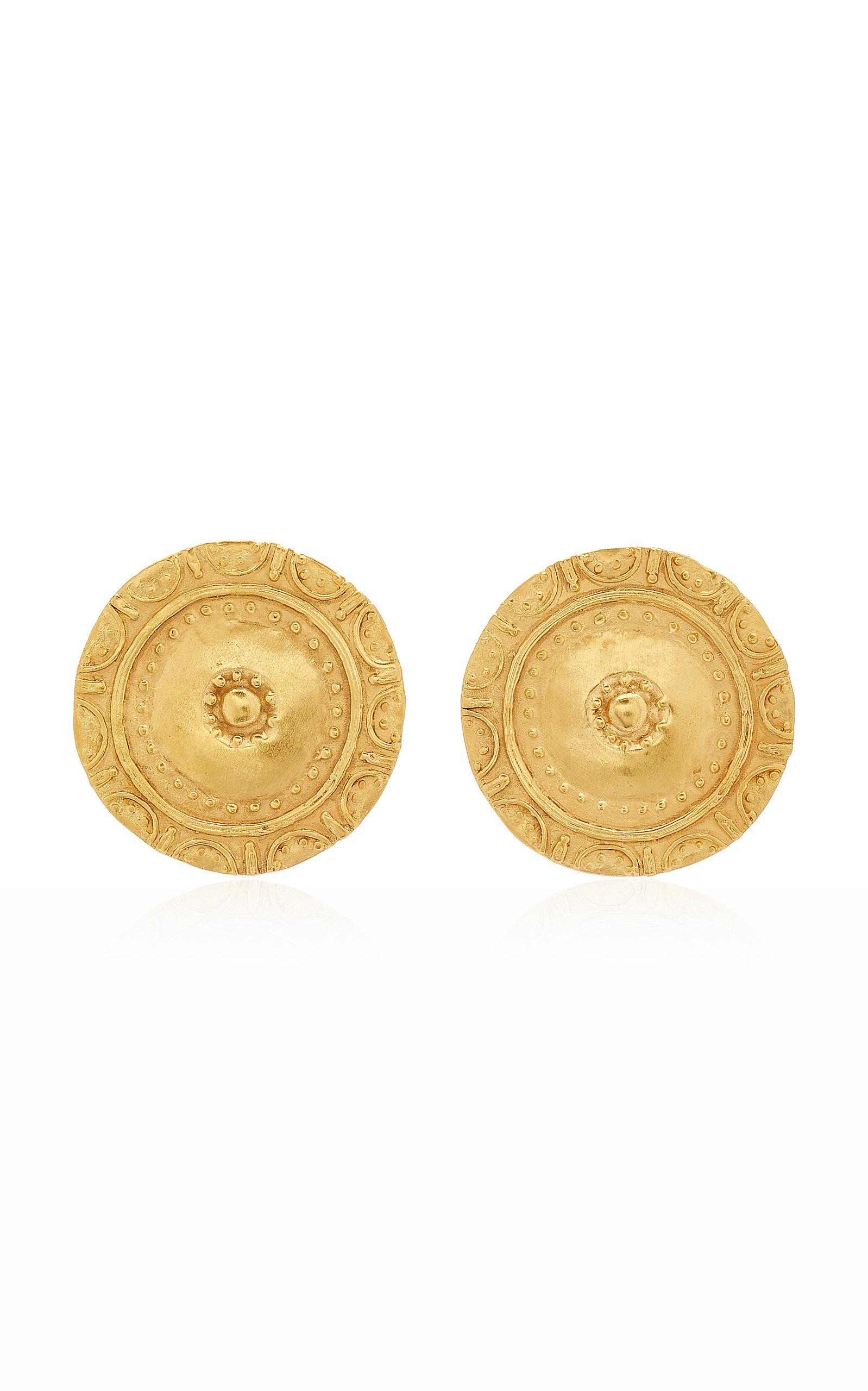 Women's Moneda 24K Gold-Plated Earrings