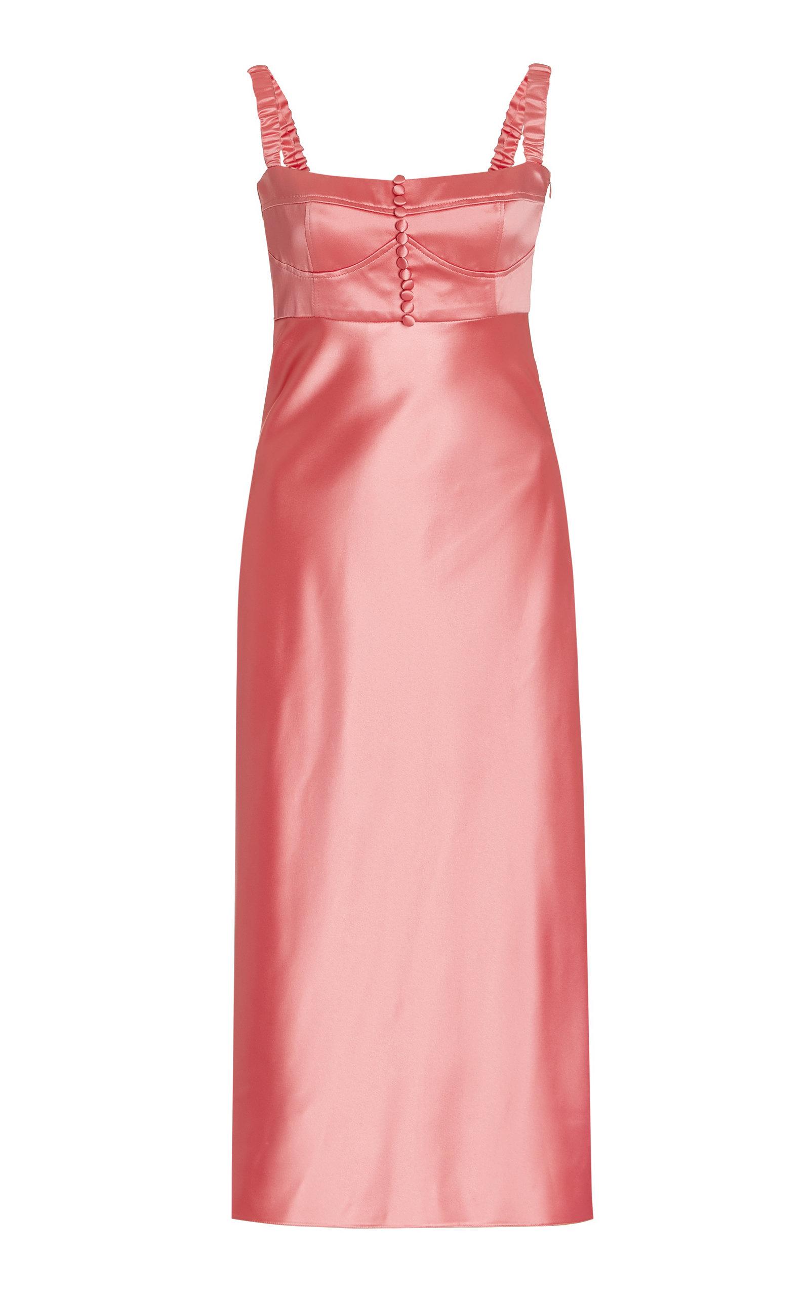 Women's Angela Satin Buster Midi Dress