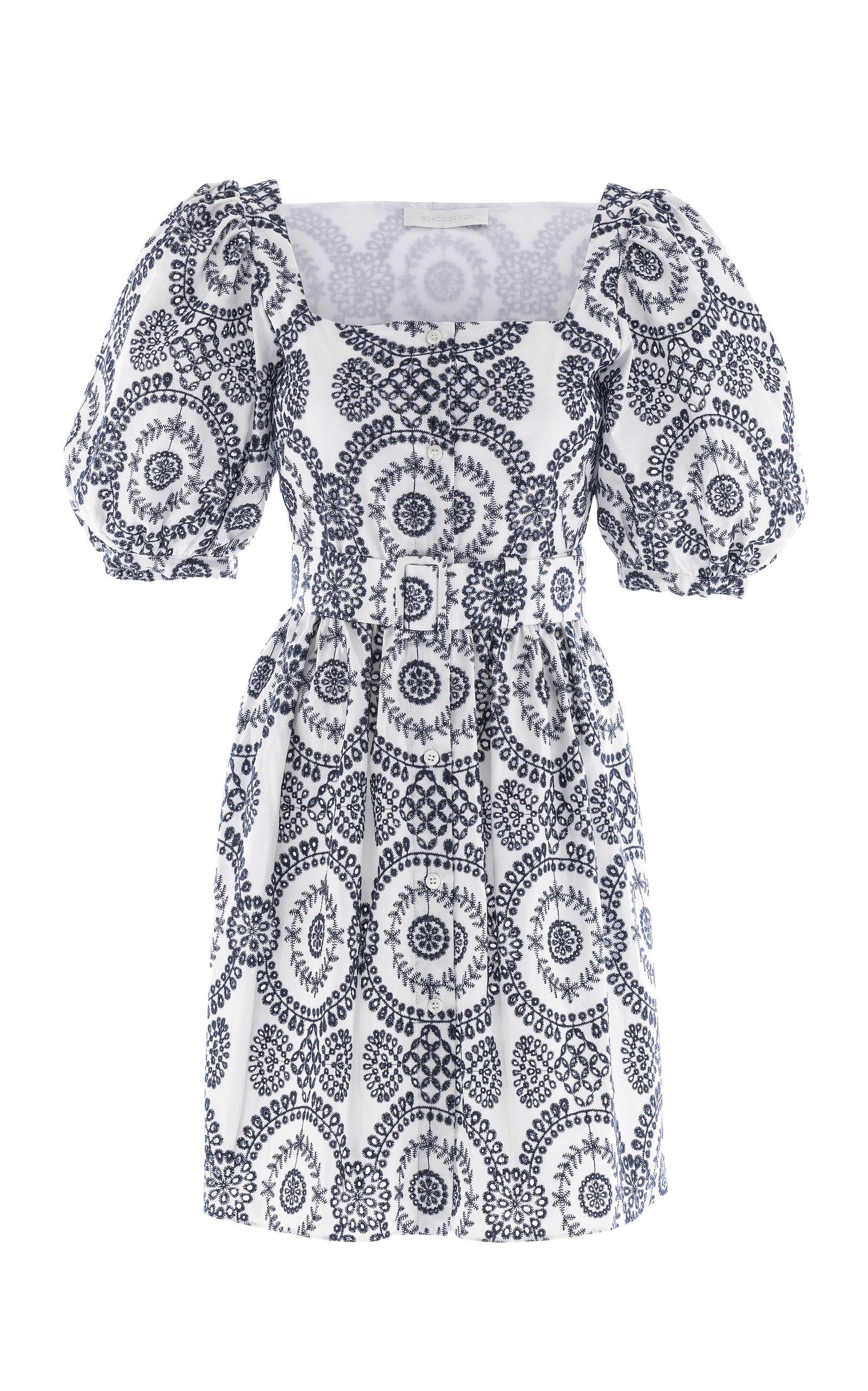 Women's Dominique Broderie Anglaise Mini Button Front Dress