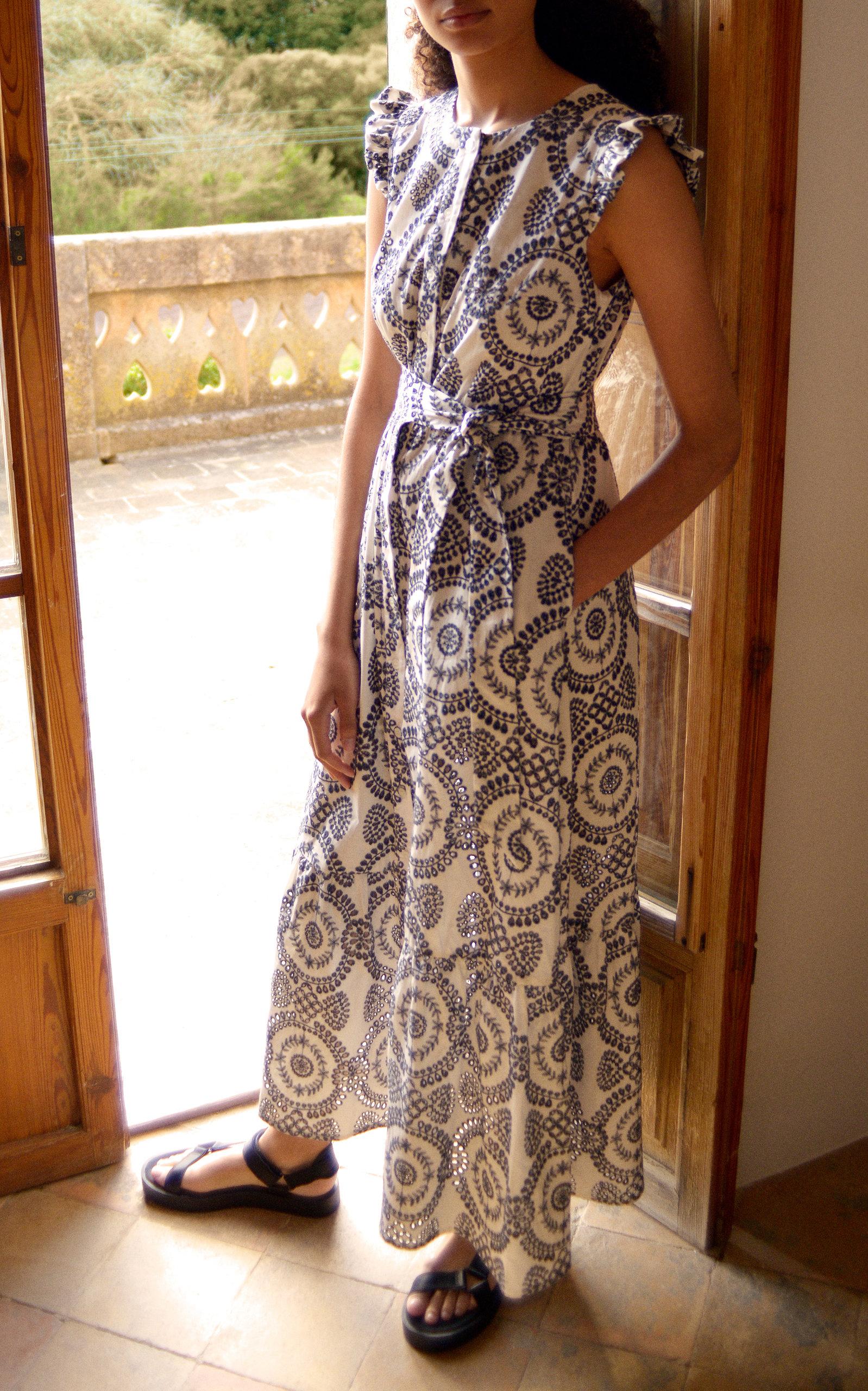 Women's Gabrielle Broderie Anglaise Frill Armhole Shirt Dress