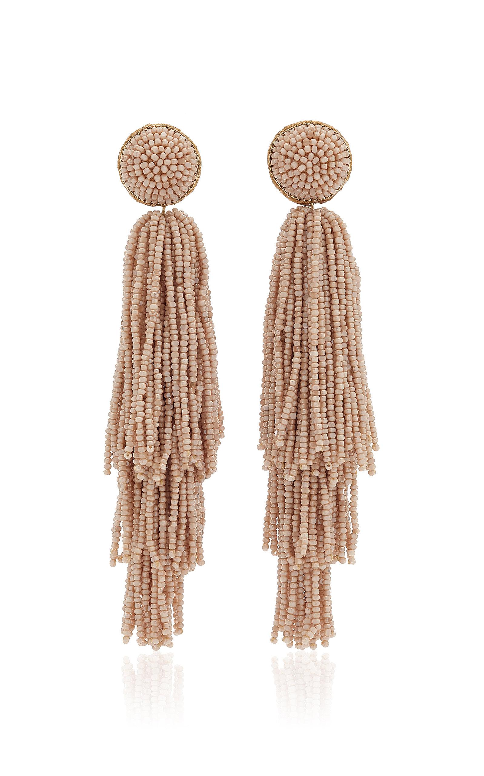 Women's Beaded Tassel Earrrings