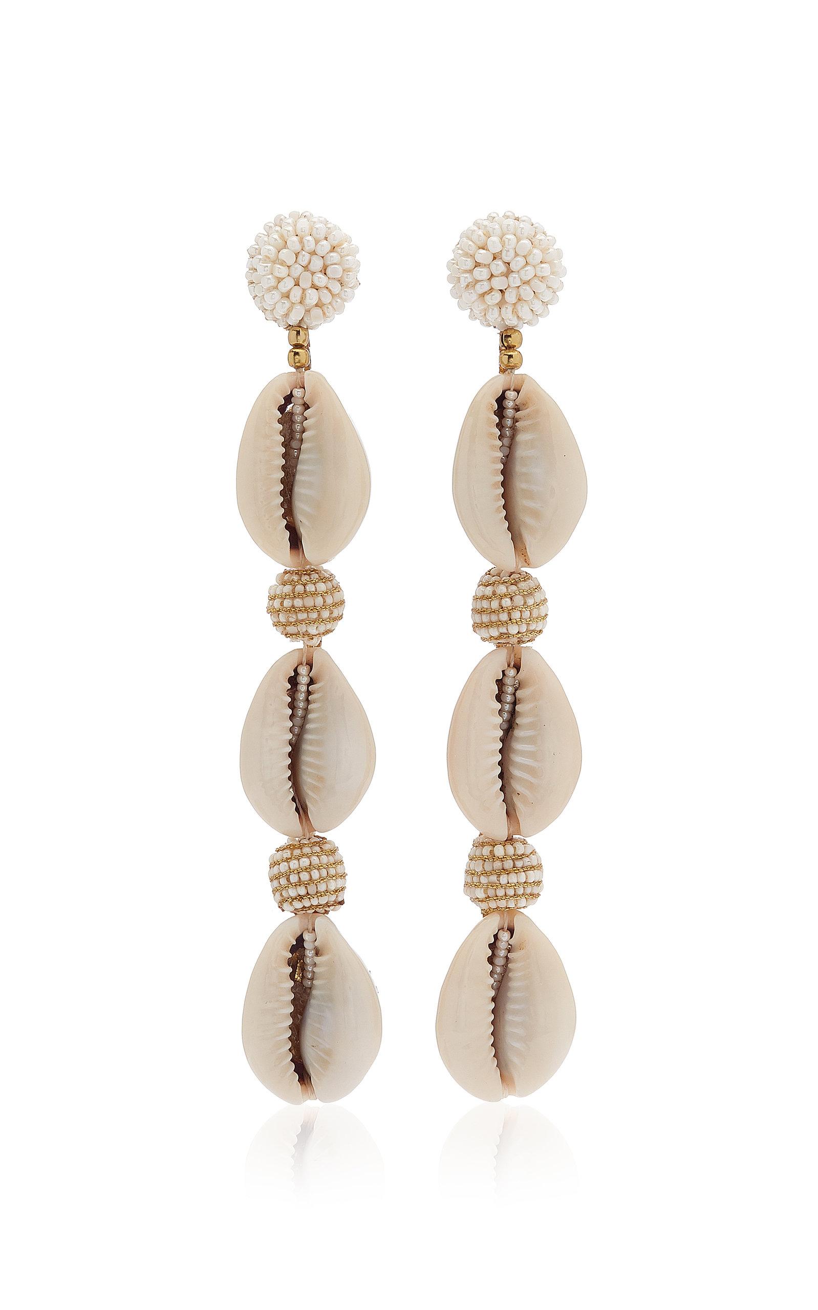 Women's Exclusive Vivica Beaded Shell Earrings