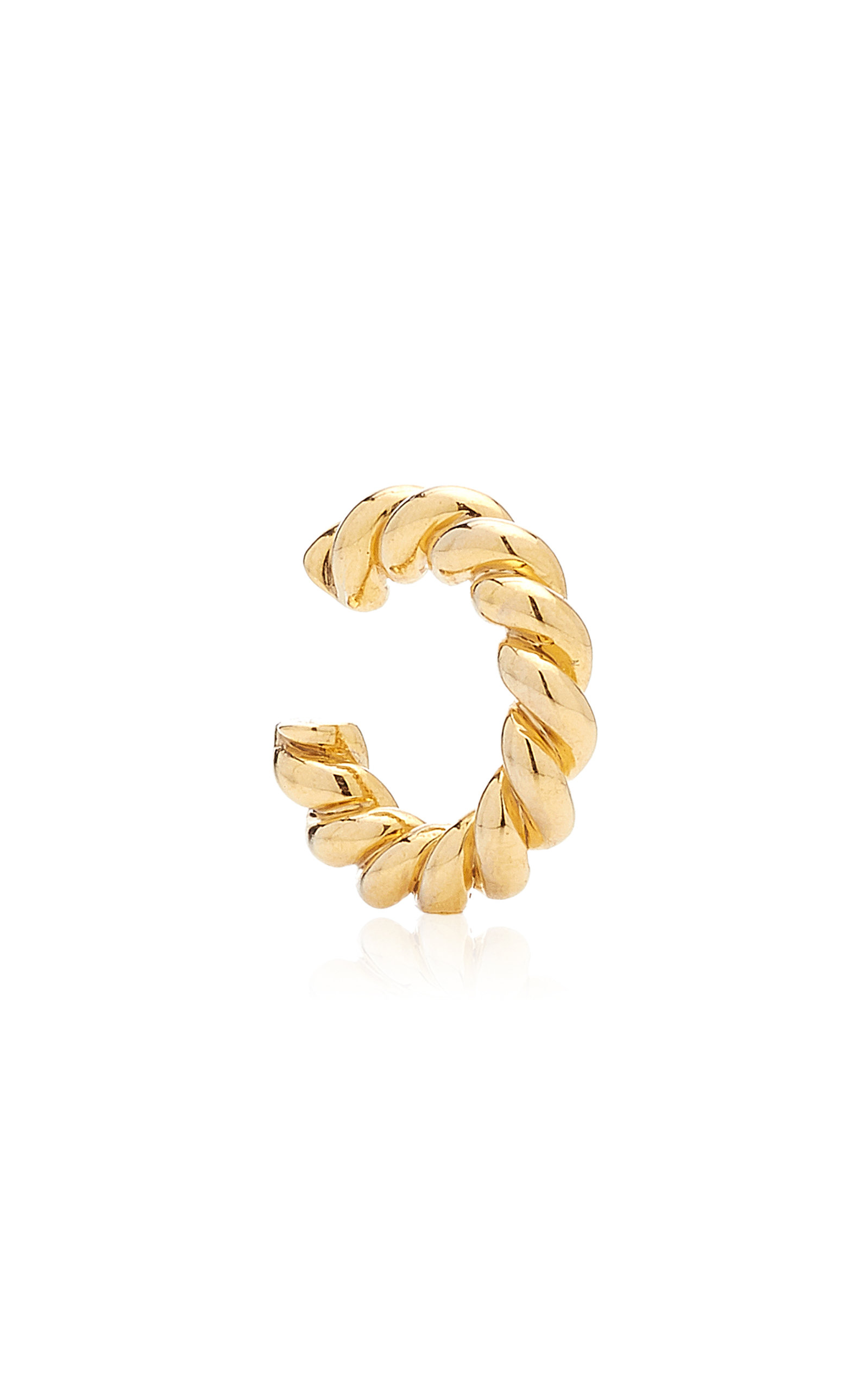 Women's Twisted Gold-Plated Ear Cuff