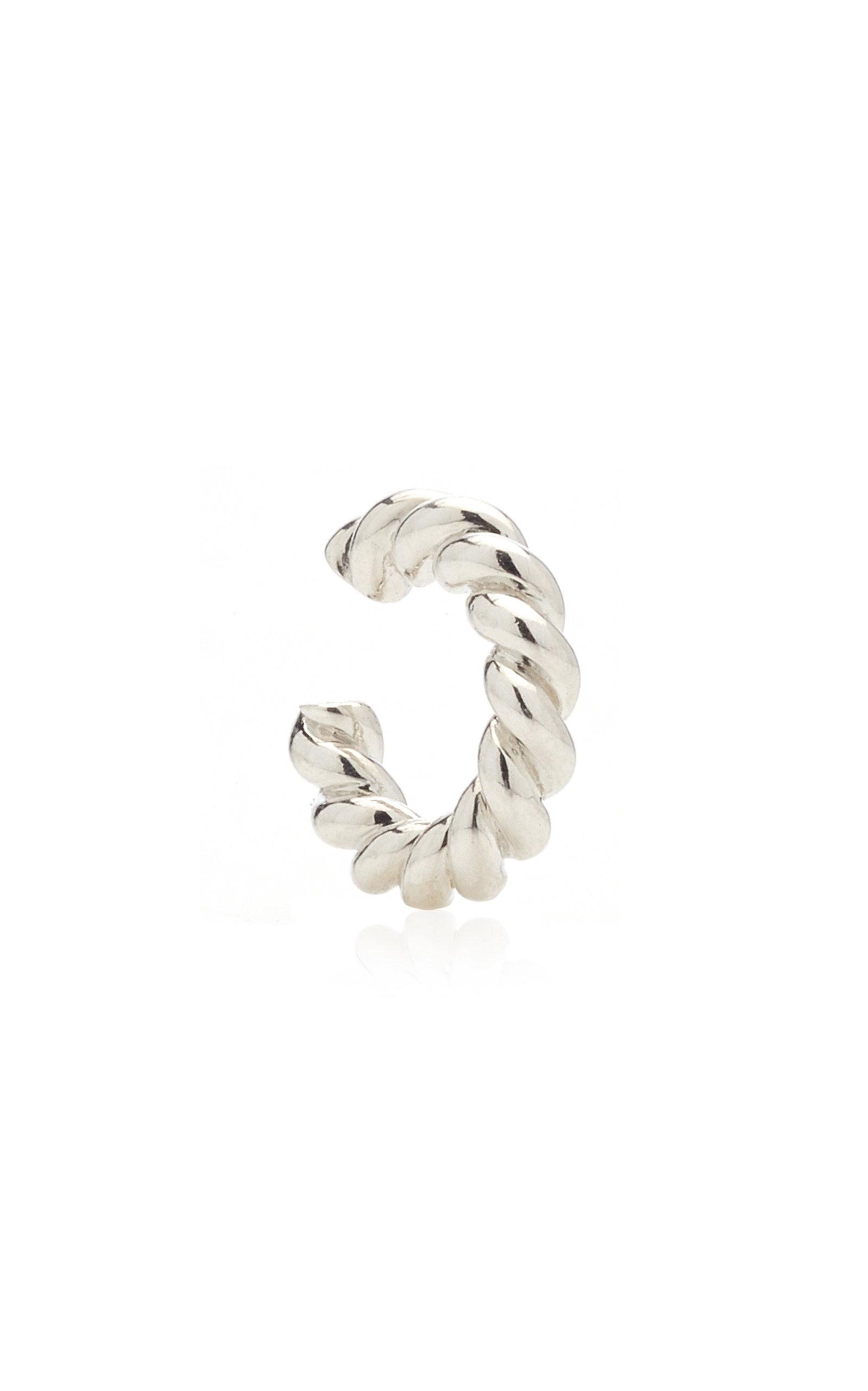 Women's Twisted Sterling Silver Ear Cuff