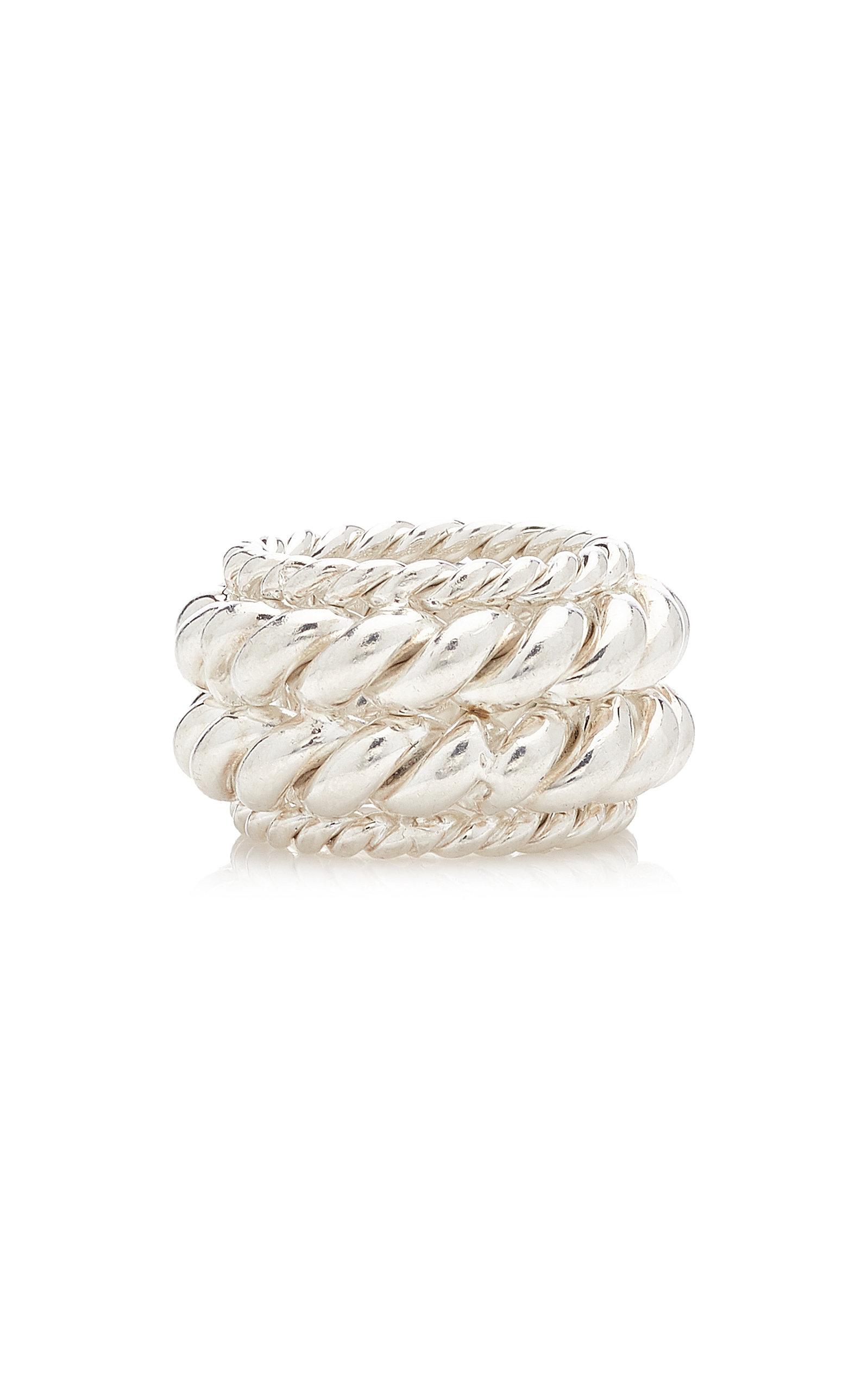 Isabel Lennse - Women's Twisted Spin Sterling Silver Ring - Silver - Moda Operandi