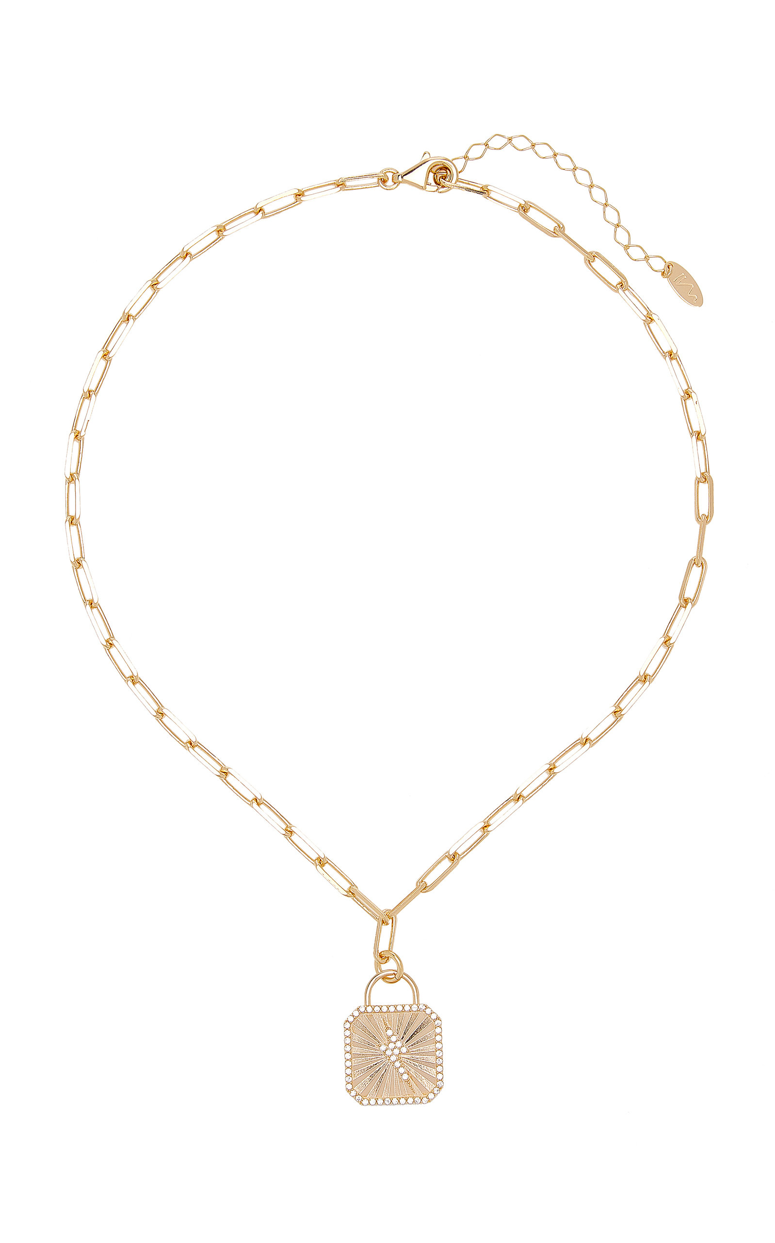 Women's Bowie Crystal-Embellished 18K Gold-Plated Necklace