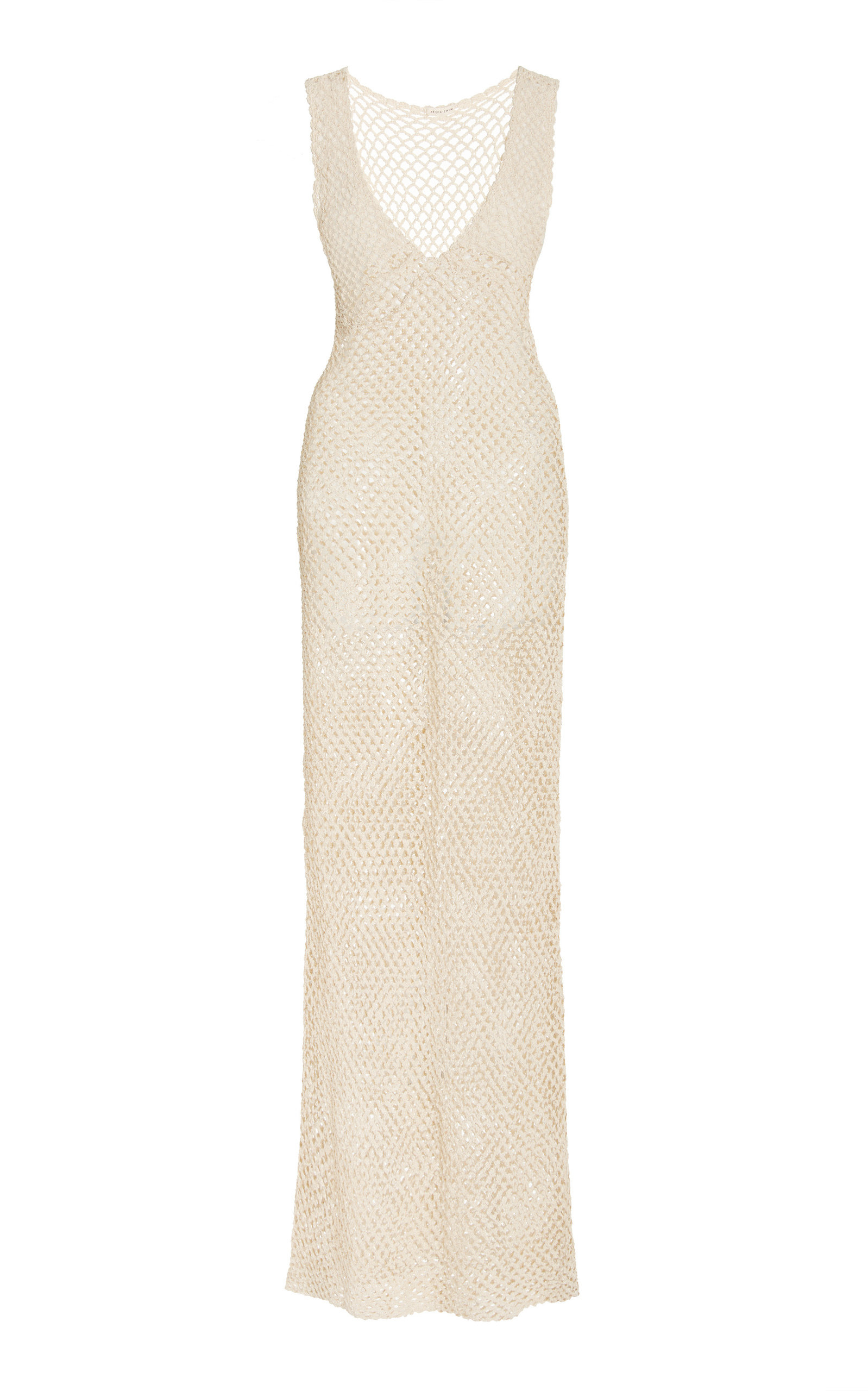 Akoia Swim - Women's Karu Crocheted Cotton Maxi Dress - White - Moda Operandi