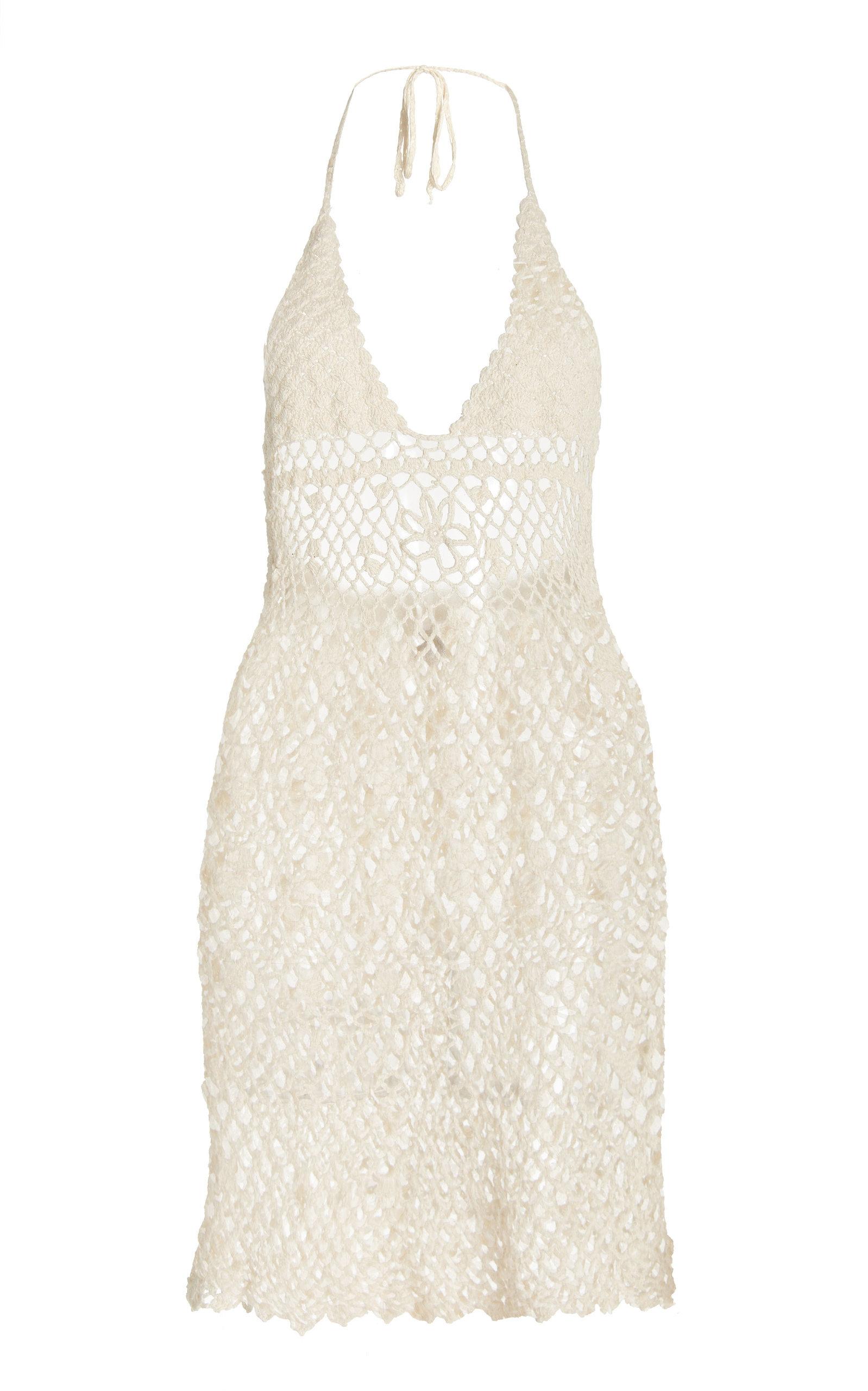 Women's Jepun Crocheted Cotton Mini Dress