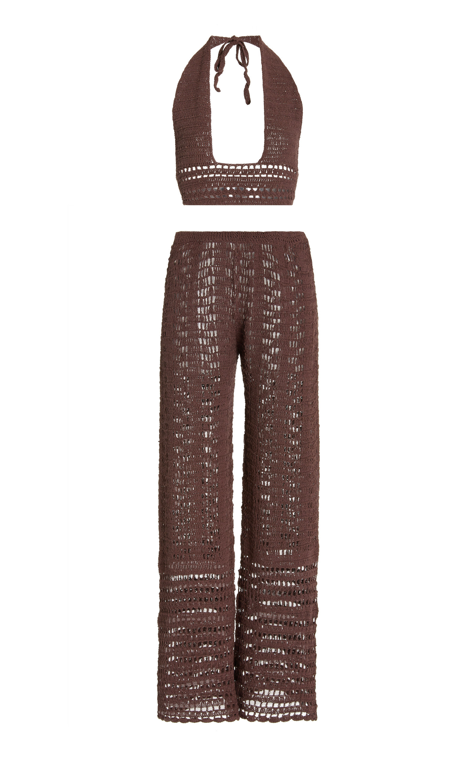 Women's Zo Crocheted Cotton Top and Pants Set