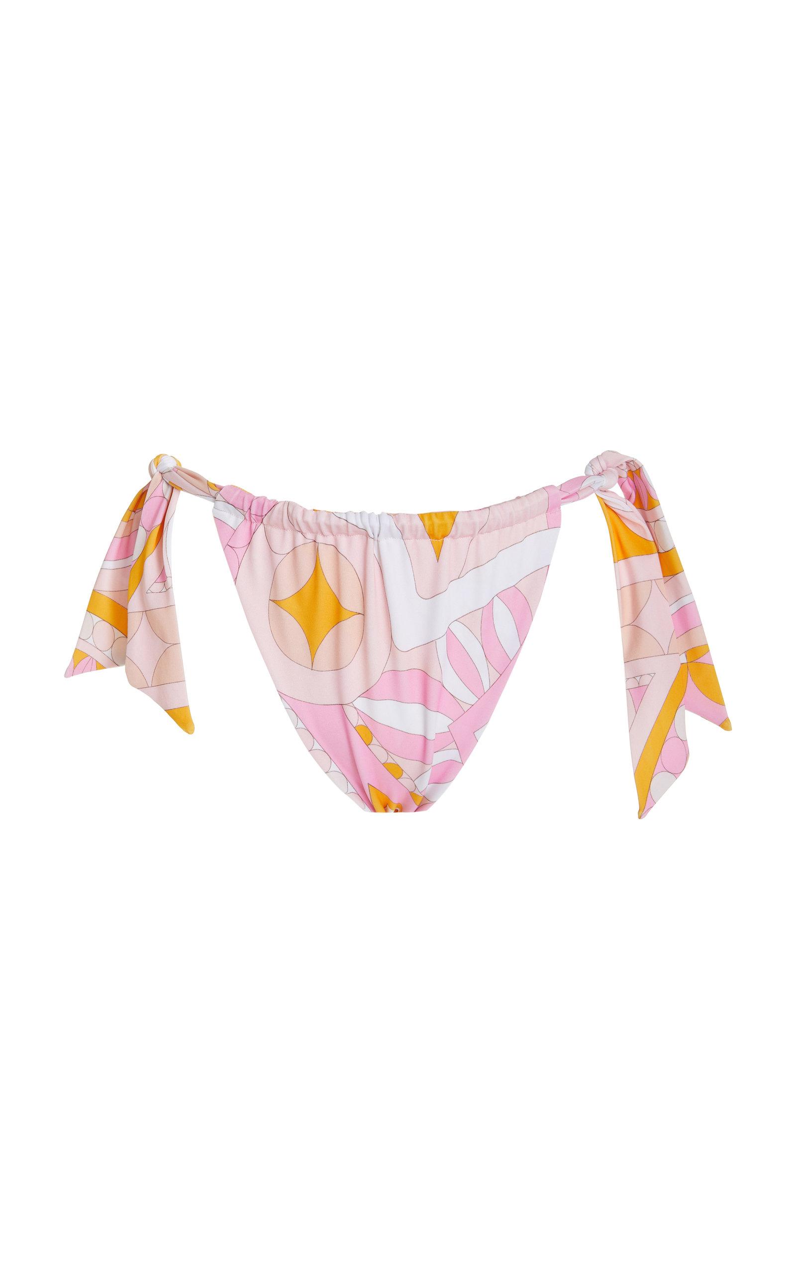 Cin Cin - Women's Mantra Tie-Detailed Printed Bikini Bottom - Print - Moda Operandi