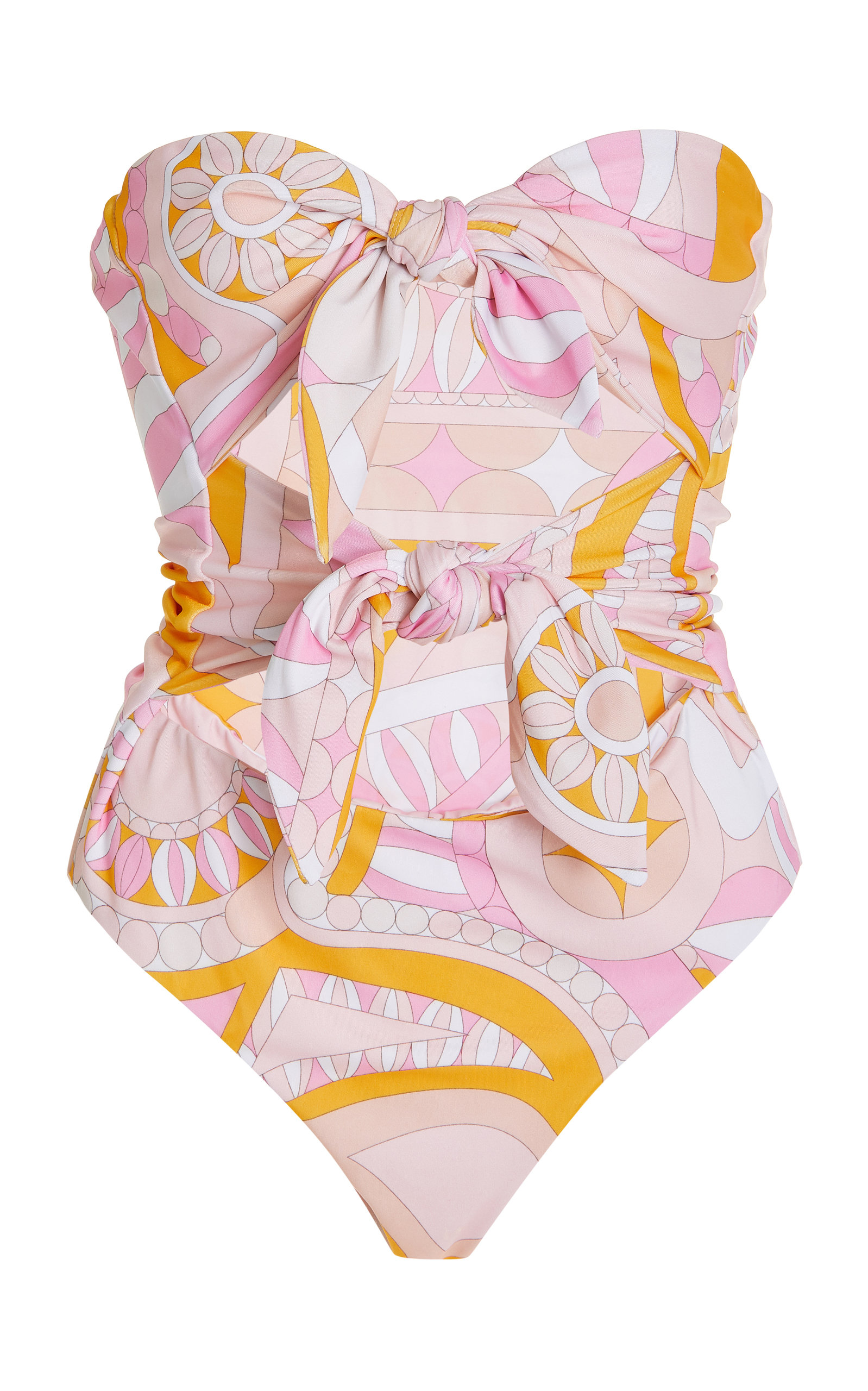 Women's Mercury Printed Knotted One-Piece Swimsuit
