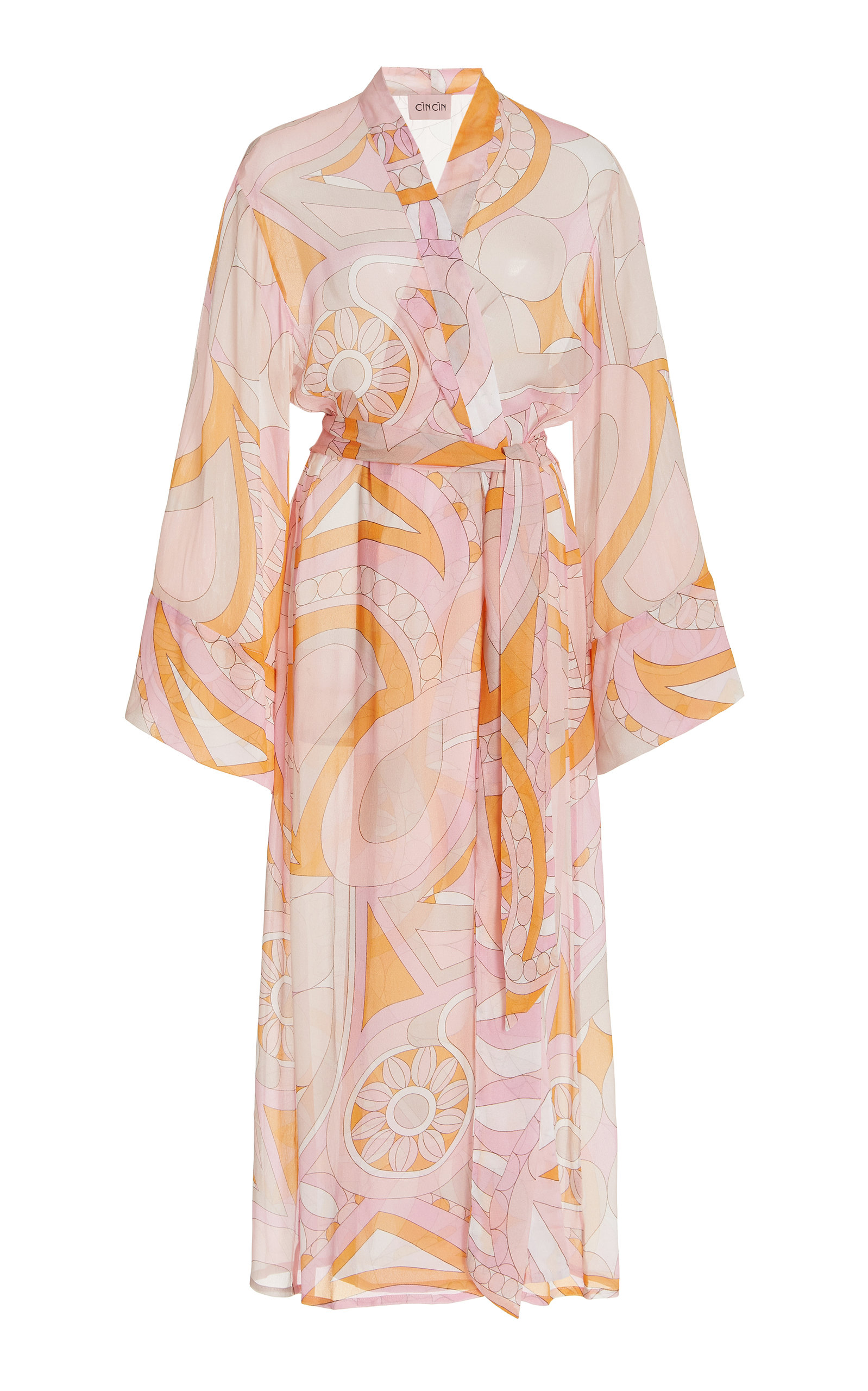 Women's Oracle Printed Voile Robe